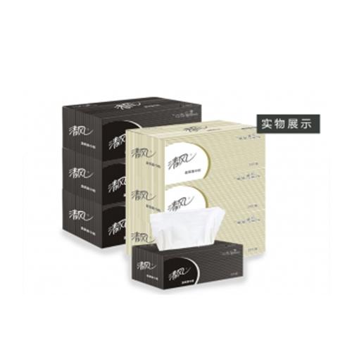 清风盒装面巾纸抽纸B338A2整箱